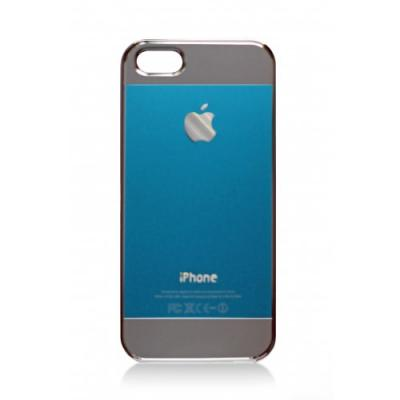 Накладка для iPhone 5/5S имитация задней крышки (бирюзовая)
