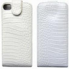 Чехол для iPhone 5/5S Крокодил Белый