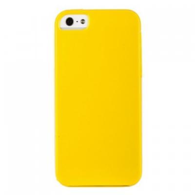 Силиконовый чехол для iPhone 5/5S глянцевый Желтый