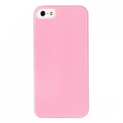 Силиконовый чехол для iPhone 5/5S глянцевый Розовый