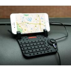 Универсальный автомобильный держатель-липучка для телефона Remax Enjoy Car Stan Черного цвета