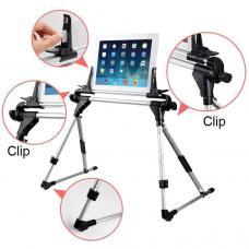 Универсальный настольный держатель для планшетов и телефонов Stand 201 Серебристого цвета