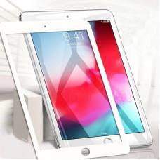 Защитное стекло 3D на весь экран для iPad Air c Белой рамкой