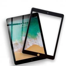Защитное стекло 3D на весь экран для iPad Air c Черной рамкой