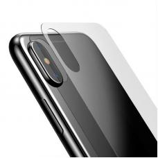 Глянцевое защитное стекло Baseus 0.3mm на крышку корпуса  iPhone X
