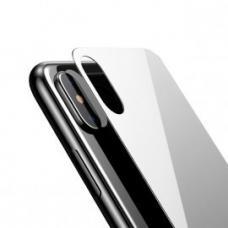 Белое защитное стекло Baseus 0.3mm на крышку корпуса  iPhone X