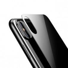 Черное защитное стекло Baseus 0.3mm на крышку корпуса  iPhone X