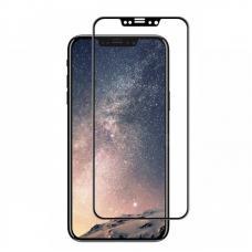 Защитное 9D стекло Anti Blue Ray на iPhone X Черная рамка