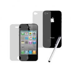 Защитное двухстороннее стекло Premium 2в1 для дисплея и корпуса iPhone 4, 4s