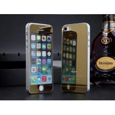 Защитное двухстороннее стекло Premium 2в1 для дисплея и корпуса iPhone 4, 4s Золотое