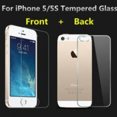 Защитное двухстороннее стекло Premium 2в1 для дисплея и корпуса iPhone 5, 5s, 5c, SE