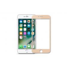 Защитное бронь стекло Baseus Tempered Glass 0,3 мм для iPhone 6, 6s Золотистая рамка