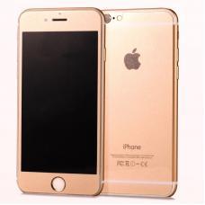 Защитное стекло Lux 2в1 для дисплея и корпуса  iphone 6, 6s Розовое золотое матовое