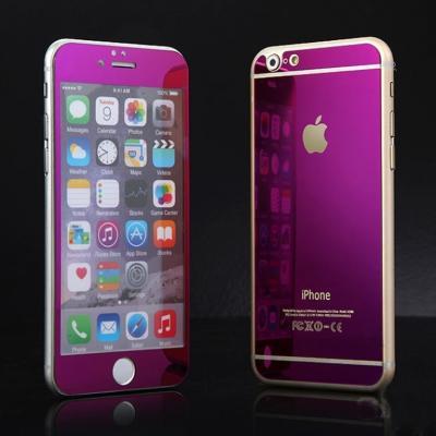 Защитные стекла на две стороны Premium 2в1 для iPhone 6, 6s Розовые