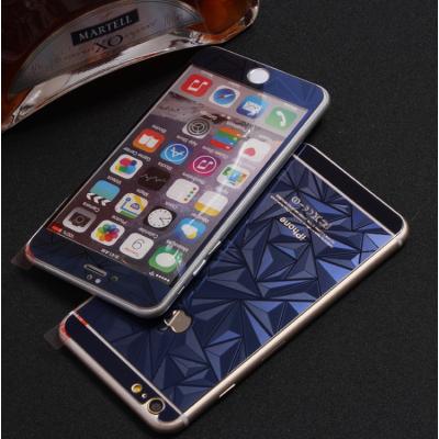 Защитное двухстороннее стекло Алмаз 2в1 для дисплея и корпуса iPhone 7 Синее