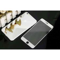 Два защитных стекла на экран и корпус  Premium 2в1 для iPhone 8 Plus Серебристых
