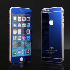 Два защитных стекла на экран и корпус  Premium 2в1 для iPhone 8 Plus Синие