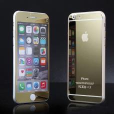 Два защитных стекла на экран и корпус  Premium 2в1 для iPhone 8 Plus Золотые