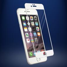 Защитное бронь стекло 3D на весь экран для iPhone 8 Plus с Белой рамкой