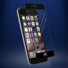 Защитное бронь стекло 3D на весь экран для iPhone 8 Plus с Черной рамкой