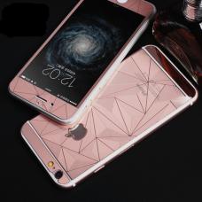 Защитные стекла Алмаз для дисплея и корпуса 2в1 для iPhone 6 Plus, 6s Plus Розовое золото