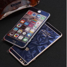 Защитные стекла Алмаз для дисплея и корпуса 2в1 для iPhone 8 Plus Синие