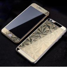 Защитные стекла Алмаз для дисплея и корпуса 2в1 для iPhone 8 Plus Золотые