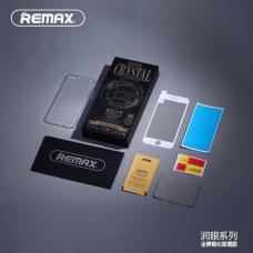 Защитное стекло Remax Curved 3D на весь экран + чехол для iPhone 8 Plus с Белой рамкой