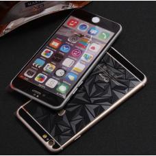 Защитное двухстороннее стекло Алмаз 2в1 для iPhone 6 Plus, 6s Plus Черное