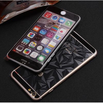 Защитное двухстороннее стекло Алмаз 2в1 для дисплея и корпуса iPhone 6, 6s Черное