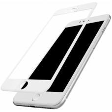 Защитное стекло Baseus Silk Screen Printed 0.2mm с силиконовым бортом для iPhone 8 Белое