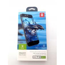 Защитное стекло Baseus Silk Screen Printed 0.2mm с силиконовым бортом для iPhone 8 Черное