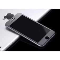 Защитное стекло на весь экран Style c алюминиевой рамкой для iPhone 6 Plus, 6s Plus Черное