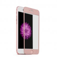 Защитное стекло Style на весь экран с алюминиевой рамкой для iPhone 6 Plus, 6s Plus Розовое золото