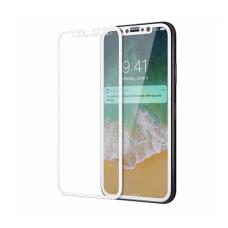 Бронь стекло 3D на весь экран для iPhone XR Белая рамка