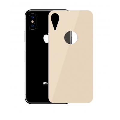 Защитное заднее стекло Baseus 0.3mm для корпуса iPhone XR  Золотой