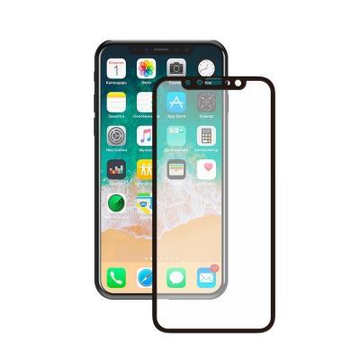 Защитное бронь стекло 3D на весь экран для iPhone Xs Черная рамка
