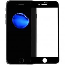 Защитное противоударное бронь стекло 10D для iPhone 7 Plus и 8 Plus черного цвета