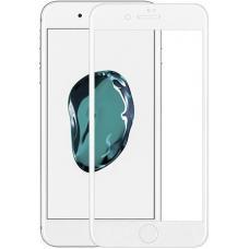 Защитное противоударное бронь стекло 10D для iPhone 7 Plus и 8 Plus белого цвета