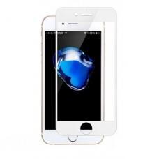 Защитное противоударное бронь стекло 10D для iPhone 7/8 белого цвета