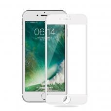 Защитное бронь стекло 6D для iPhone 6 Plus/6S Plus белого цвета