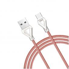 Кабель USB Type-C Hoco U25 1м Розового цвета