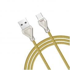Кабель USB Type-C Hoco U25 1м Золотого цвета