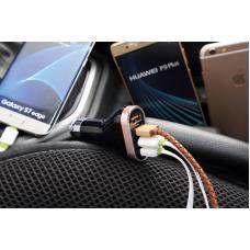 Автомобильное зарядное устройство LDNIO C701Q 7A с кабелем Micro USB на 4 USB выхода