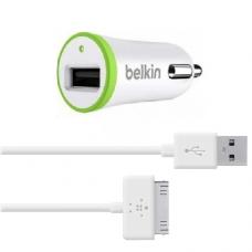 Belkin АЗУ 10W и кабель 1,2m 30 pin на iPhone 4, 4s Белого цвета