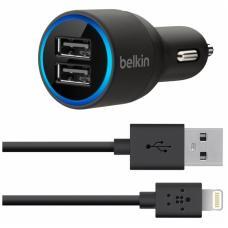 Belkin АЗУ 20W на 2 USB и кабель 1,2m lightning 8 pin Черного цвета