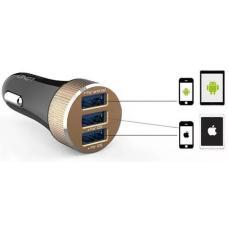 Автомобильное зарядное устройство LDNIO DL-C50 5.1А с кабелем lightning на 3 USB выхода Черный