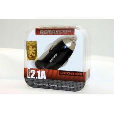 Автомобильный адаптер USB Remax 2.1A Черного цвета
