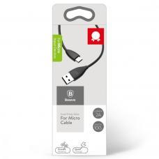 Кабель Micro USB Baseus 1м 2A Small Pretty Waist Черного цвета