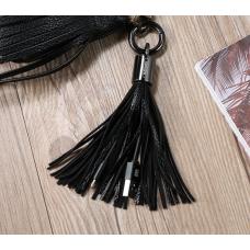 Кабель lightning 8pin Брелок-кисточка Черного цвета